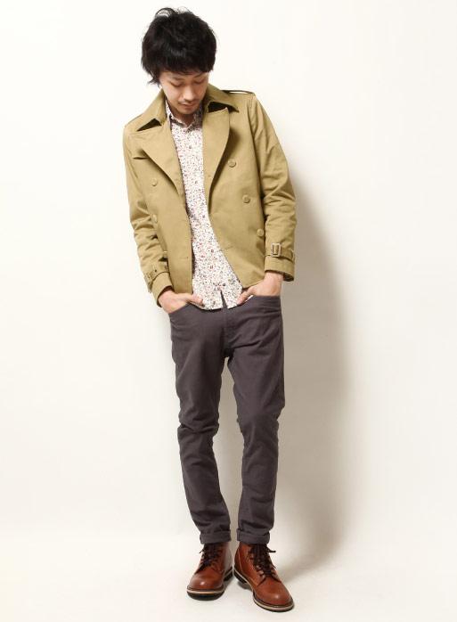 翻領西裝外套,短版風衣外套,排扣短版風衣,大地色短版外套,ZIP外套