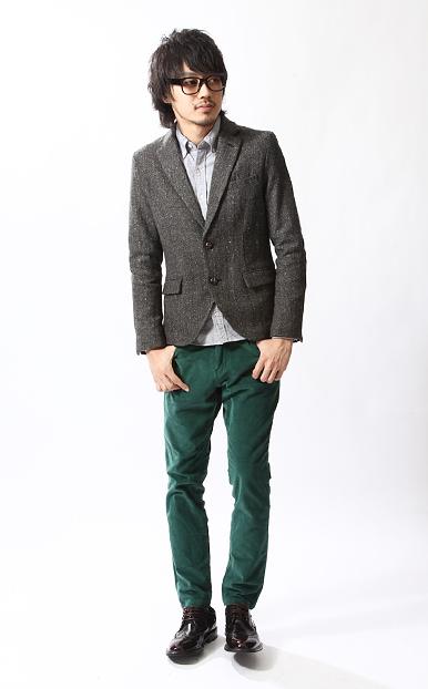 燈芯絨長褲,保暖長褲,橄欖綠長褲,2013流行色,跨年搭配,西裝長褲