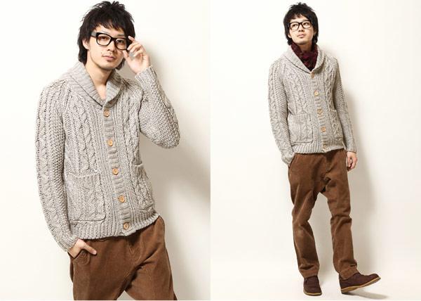 灰色針織衫,灰色粗針織開襟衫,木扣針織開襟,素色針織外套