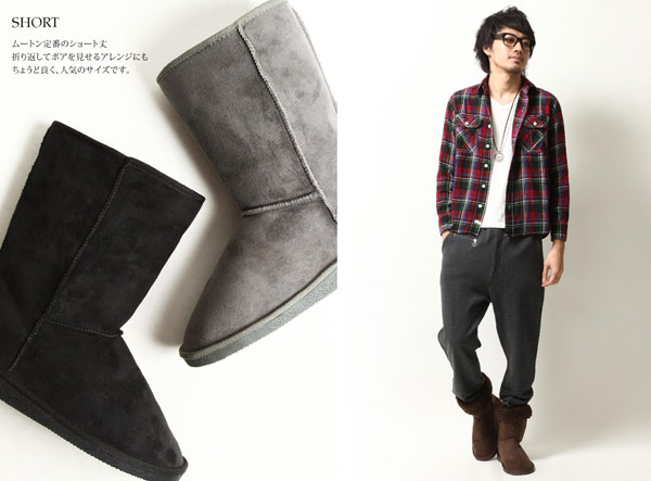 ZIP中筒雪靴,雪靴特價,中筒男生雪靴,反摺雪靴,鋪毛雪靴