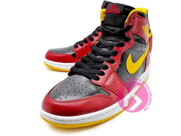 1985 年經典復刻款 九孔鞋洞 2013 鞋舌 NIKE LOGO 標籤 NIKE AIR JORDAN 1 RETRO HIGH OG HIGHLIGHT FILM 黑紅黃