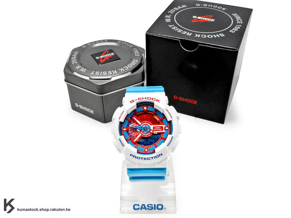 CASIO G-SHOCK BLUE AND RED SERIES 系列 GA-110AC-7ADR 白天空藍紅