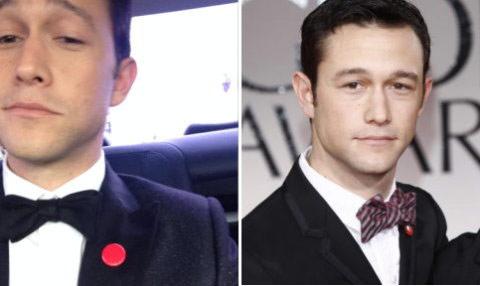 ▲喬瑟夫高登李維所搭配的平直結能襯托出紳士氣質;而紅色的格紋領結則在正是中帶點休閒感,並顯得較有個性,時尚感竄升。(左圖/取自喬瑟夫高登李維臉書;右圖/取自Posh24網站)