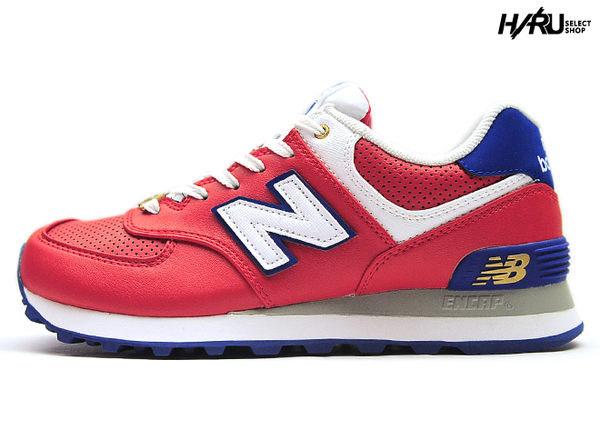 ▲New Balance 574 ML574KRD 2014 刺繡 N字 皮革 蜘蛛人 紅藍白 銅板 金牌 男鞋