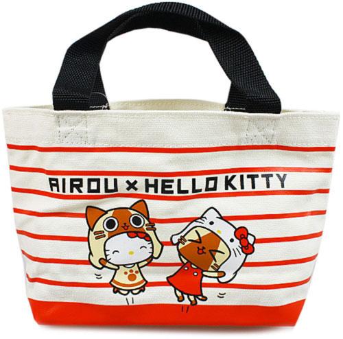 艾路貓AIROU × 凱蒂貓HELLO KITTY聯名帆布手提包
