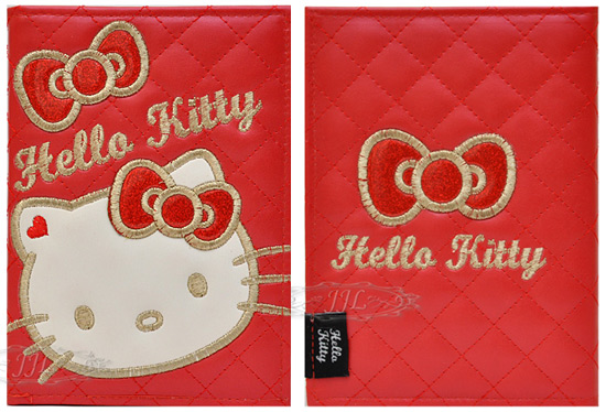 HELLO KITTY大臉皮質2012年月計週計行事曆/手帳本A6厚