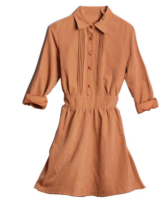 秋冬一定要Buy的麂皮洋裝,甜美的設計是熱賣關鍵。