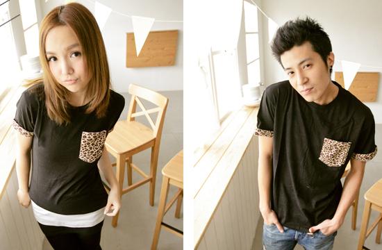 T恤,素色T恤,豹紋,女裝,穿搭,艾咪e鋪