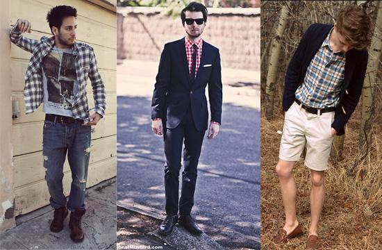 格紋襯衫,男裝,穿搭,艾咪e鋪