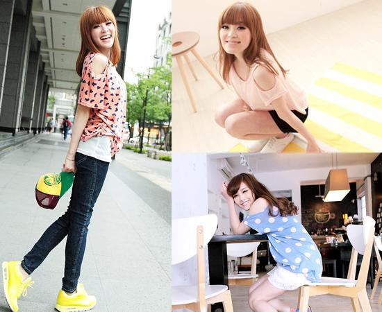 東京著衣,流行女裝,挖肩,日系,韓系