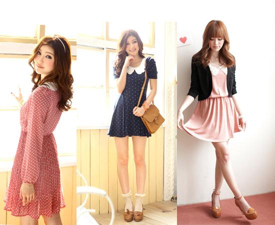 東京著衣,流行女裝,裝飾領,雪紡紗,洋裝