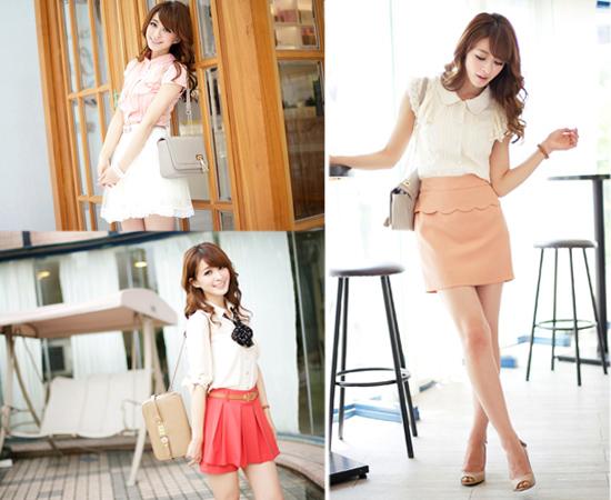 東京著衣,流行女裝,褲裙,窄裙,雪紡紗