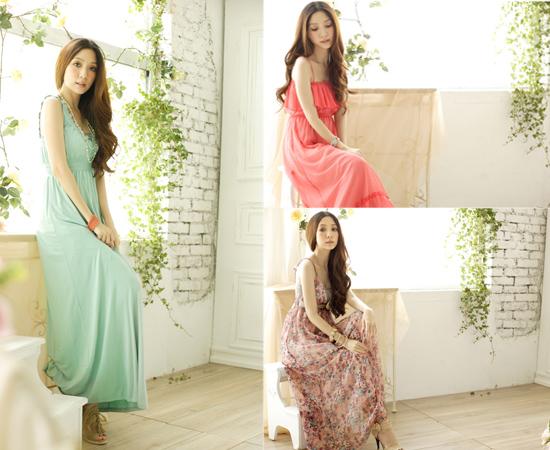 東京著衣,流行女裝,洋裝,長版洋裝,雪紡紗