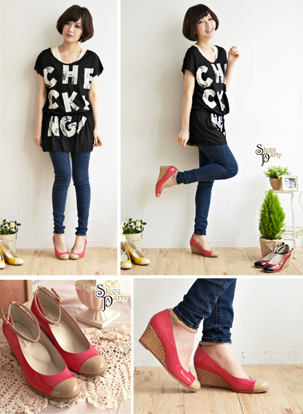 shoes party,女鞋,船型鞋,楔型鞋,低跟鞋