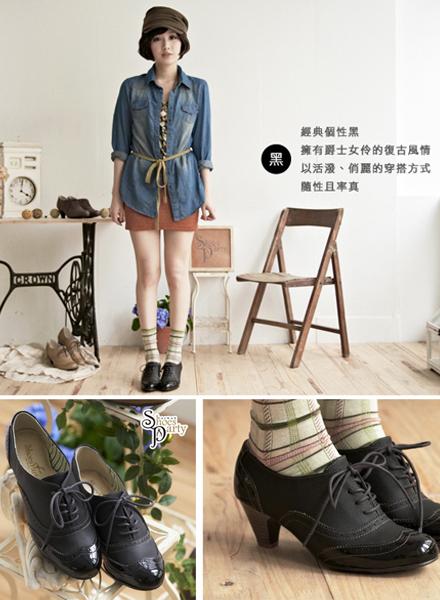 shoes party,女鞋,牛津鞋,中跟鞋,踝靴