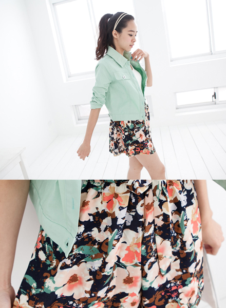 Joyce shop,碎花,印花,短裙,褲裙