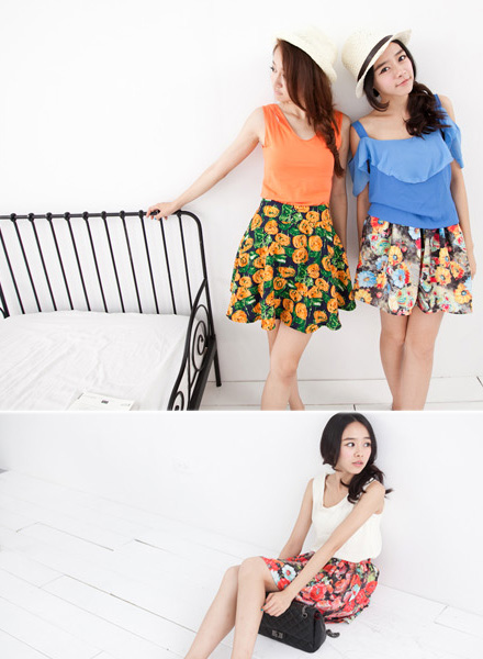 Joyce shop,碎花,印花,裙子,傘狀