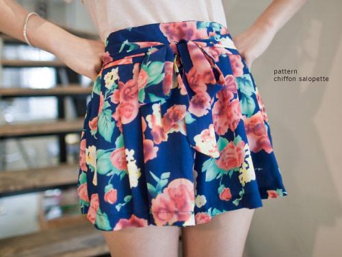 日系,碎花,印花,褲裙,vivi