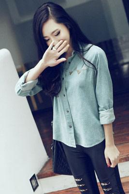 牛仔襯衫,襯衫,繼承者們,李敏鎬,朴信惠