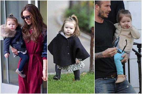 好萊塢名人小孩,時尚小孩,名人小孩穿搭,貝克漢女兒
