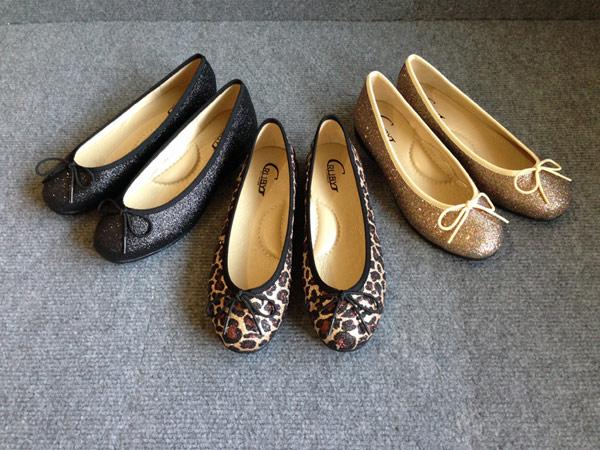 ★ GRUBY ★ 時尚金蔥豹紋娃娃鞋