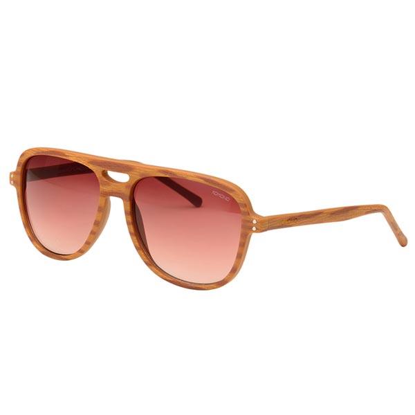 ▲【KOMONO】Rafton Oak Wood 太陽眼鏡 飛行員款 棕/咖啡/褐