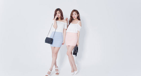 ▲IMAGINE GIRL 裙‧粉嫩質感蕾絲緹花窄裙