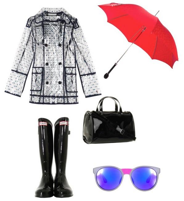 雨天穿搭雨一好雨鞋好有型
