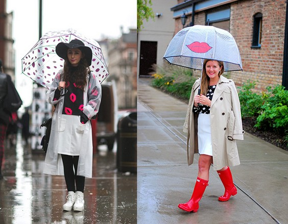 雨天穿搭雨傘雨鞋好有型