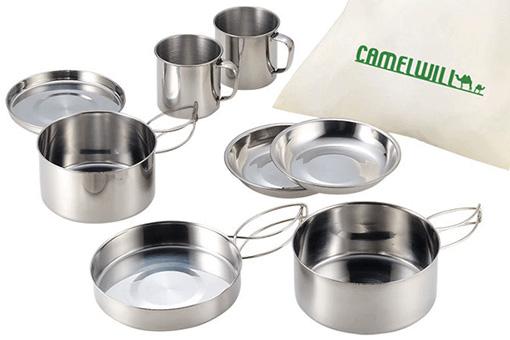 日本CAMELWILL 野餐露營餐具8件組