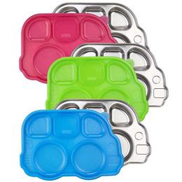 美國不鏽鋼巴士餐盤(3色)
