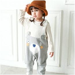可愛熊熊吊帶背心連身衣 純棉材質超柔軟 保暖
