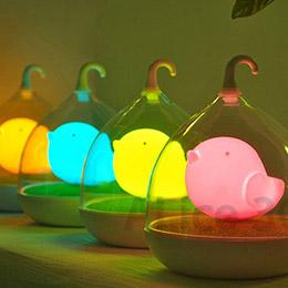 LED小鳥造型 鳥籠夜燈