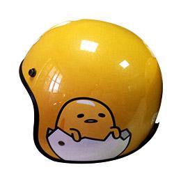 蛋黃哥全罩式復古騎士帽